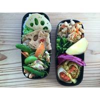 鶏胸肉とスナップエンドウの香味炒めBENTO - Feeling Cuisine.com
