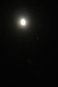 未明に並んだ月、木星、スピカ(2017年2月16日) - FACE's of the MOON - photos & silly things