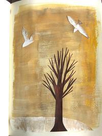 切り絵コラージュ 冬の木と鳥 - 手製本クリエイター&切絵コラージュ作家 yukai の暮らしを愉しむヒント