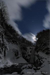 すばる輝く、秋保大滝 - 遥かなる月光の旅
