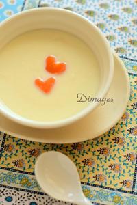 白い人参スープでバレンタイン♪ - Dimages