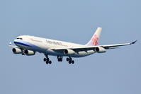 CAL A340-300のアプローチ - 南の島の飛行機日記