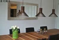 引越し後の寿司教室、新しいランプとテーブルはこんな感じです。 - 寿司陽子