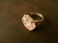 ピンクトパーズ リング - 石と銀の装身具