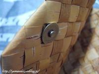 自宅使い バックの留め金を直す - ロシアから白樺細工