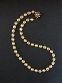 自分用に、ガラスパールのネックレス - Tammy Daisy ヴィンテージビーズに恋して   ハンドメイド・アクセサリー