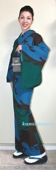 今日の着物コーディネート♪(2017.2.17)~ポリ小紋&袋帯編~ - 着物、ときどきチロ美&チャ美。。。リサイクル着物ハタノシイナ♪