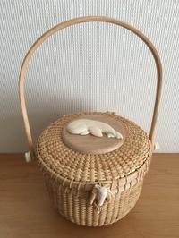"""6""""round purse - NANTUCKET &KK ナンタケットバスケット制作教室blog♪"""