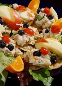 ■おもてなし晩酌メニュー【①揚げ餃子の皮乗せ パリパリポテトサラダ】 - 「料理と趣味の部屋」