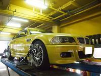 BMW・M3、アライメント調整です。 - 名古屋のタイヤ屋「JY-CLUB」の整備日記