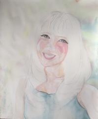 【水彩画】No372 笑み - ジェンマとおっちゃんの日記2