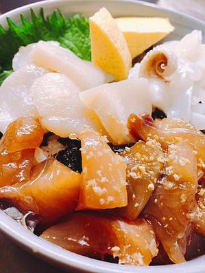 魚3種でちらし寿司とか。 - グンジ家の食卓