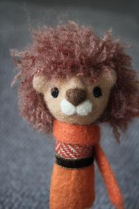 久しぶりにライオン君指人形 - 羊毛フェルトでプチ・ボヌール