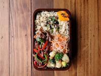 2/18(土)牛肉とピーマンのオイスターソース炒め弁当 - おひとりさまの食卓plus