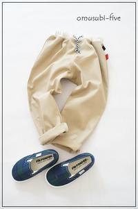 おしゃれ男の子に着て欲しい、size100の着回ししやすいサルエルパンツ - ハンドメイドで親子お揃い服 omusubi-five(オムスビファイブ)