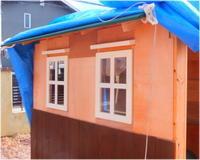 北側 板張りほぼ完了 -庭小屋- - グラス工房 Grendora  -制作の足跡-
