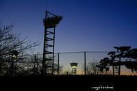 夕景 - 長い木の橋