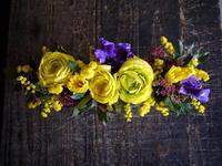 お誕生日に。「はじける感じ」。豊平7条にお届け。ブリキコンテナアレンジメント。 - 札幌 花屋 meLL flowers