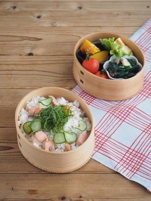 鮭のちらし寿司弁当 - Delicatusib