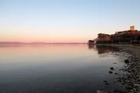 桜色の空と湖、カスティッリョーネ・デル・ラーゴ - ペルージャ イタリア語・日本語教師 なおこのブログ - Fotoblog da Perugia