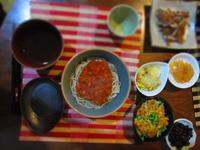 夜ごはん トマトそば - 恵茶房 meg tea labo