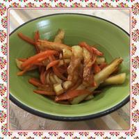ちくわと人参のガーリックバター醤油炒め - kajuの■今日のお料理・簡単レシピ■