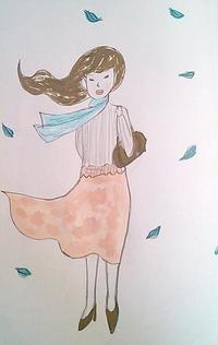 春一番 - たなかきょおこ-旅する絵描きの絵日記/Kyoko Tanaka Illustrated Diary