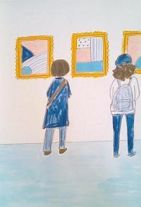ギャラリー巡り - たなかきょおこ-旅する絵描きの絵日記/Kyoko Tanaka Illustrated Diary