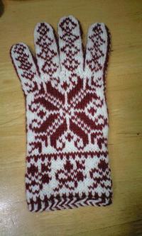 北欧の編み込みの手袋 〜『北欧のニットこものたち』より〜 - 笑う門には福来たる