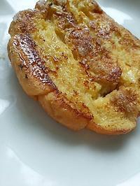 クロワッサンのフレンチトーストで朝ごぱん - 料理研究家ブログ行長万里  日本全国 美味しい話