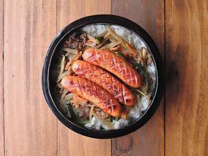 2/22(水)きんぴらソーセージ丼弁当 - おひとりさまの食卓plus
