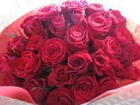 赤バラ 30本 - ブランシュのはなたち