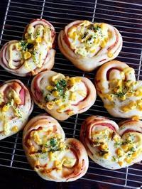 バレンタインなのでハート形のハムパン - Lammin ateria