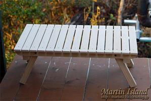 キャンピングローテーブルを自作する。<木工作編> - Martin Island ~空と森と水と~