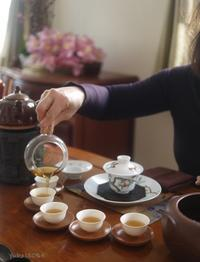 金観音岩茶をいただく - お茶をどうぞ♪