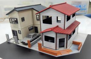 住宅が並ぶジオラマを作る(7) - 【趣味なんだってば】 鉄道模型とジオラマの製作日記