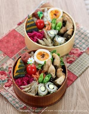 海苔巻きササミの照り焼き ✿ ロマちゃんとツナのパスタ(๑¯﹃¯๑)♪ - **  mana's Kitchen **