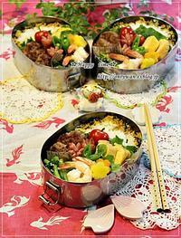 ミニハンバーグ弁当とリンゴ酵母でバゲットとわんこ♪ - ☆Happy time☆
