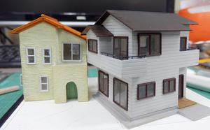 住宅が並ぶジオラマを作る。Ver.ホ(7) - 【趣味なんだってば】 鉄道模型とジオラマの製作日記