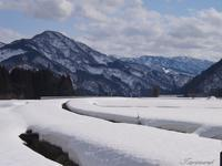雪原と山 - 今日の空+α2