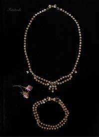 リボンで留めるダイヤチェーンのネックレスとブレスレット セット販売 - Foretoile~フォレトワール~ アトリエと日々のこと