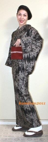 今日の着物コーディネート♪(2017.2.25)~紬着物&名古屋帯編~ - 着物、ときどきチロ美&チャ美。。。リサイクル着物ハタノシイナ♪