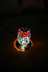 生徒さんのかわいい小ランプ 完成 - ステンドグラスルーチェの日常