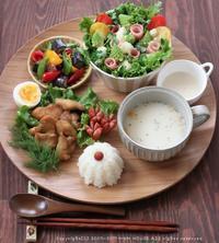 ハーブ&ソルト唐揚げ ✿ 肉じゃが定食(๑¯﹃¯๑)♪ - **  mana's Kitchen **