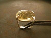 レモンクオーツ リング - 石と銀の装身具
