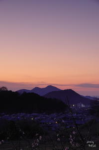 明日香村小原(おおはら) 夕景 - ぶらり記録(写真) 奈良・大阪・・・