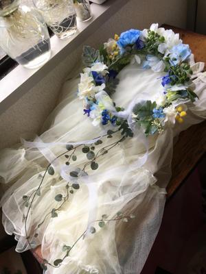 サムシングブルーの花冠オーダー - Ruby Flower 日々の暮らしの物語