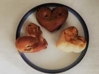 ♡なパン三種盛り - パンと焼き菓子の記録