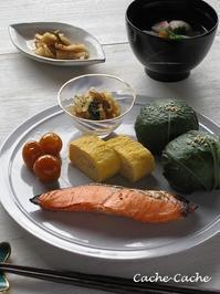 広島菜のおむすびで和ンプレート♪ - Cache-Cache+