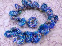 ☆かぎ針編みのブレスレット・ブルー☆ - ガジャのねーさんの  空をみあげて☆ Hazle cucu ☆